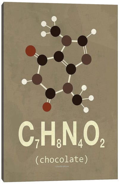 Molecular Formula Series: Chocolate Canvas Print #TYP3