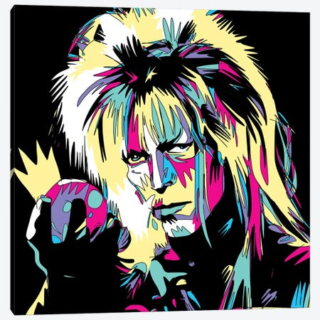 Bowie The Goblin King Canvas Print #TYU45} by Misha Tyutyunik Canvas Wall Art