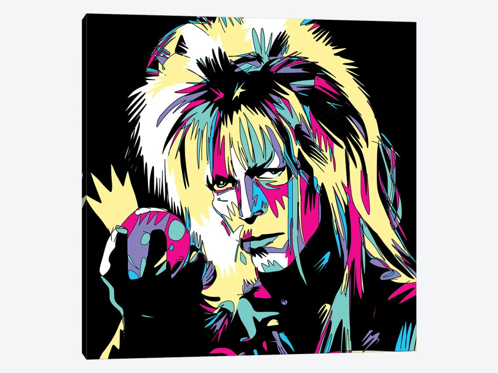 Bowie The Goblin King by Misha Tyutyunik 1-piece Canvas Art Print