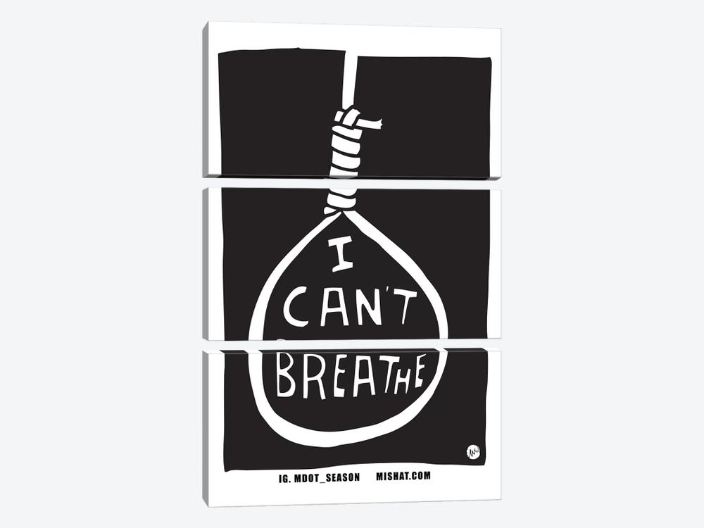 I Can't Breathe by Misha Tyutyunik 3-piece Canvas Artwork