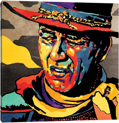 John Wayne Canvas Art Print