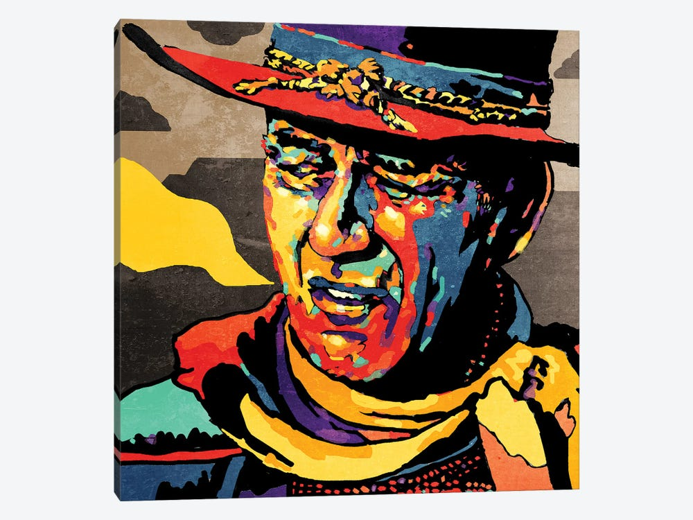 John Wayne by Misha Tyutyunik 1-piece Canvas Art