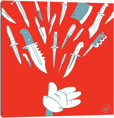 Knives In My Palm Canvas Art Print