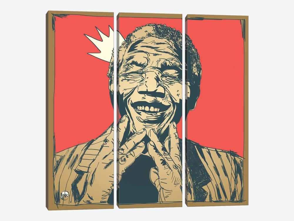 Mandela by Misha Tyutyunik 3-piece Canvas Wall Art