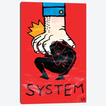 System Canvas Print #TYU71} by Misha Tyutyunik Canvas Artwork