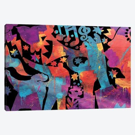 Trumpets Canvas Print #TYU72} by Misha Tyutyunik Canvas Art