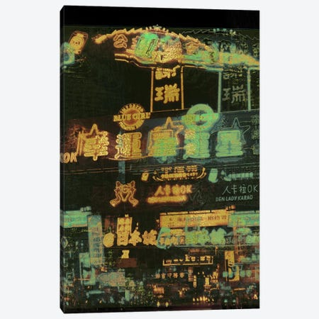 Night Lights Gold Edition Canvas Print #UAS11} by 5by5collective Canvas Wall Art