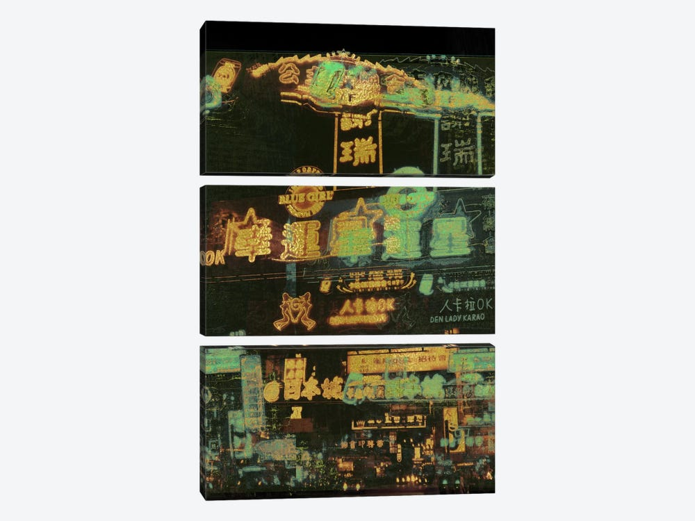 Night Lights Gold Edition by 5by5collective 3-piece Canvas Art