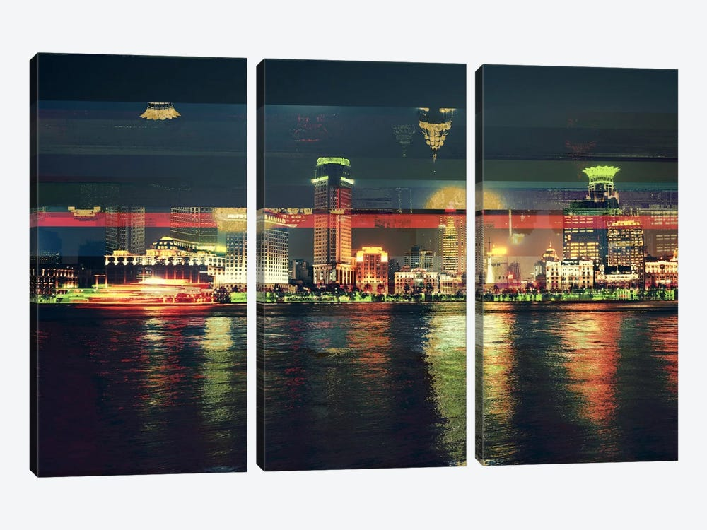 Skylights Gold Edition by 5by5collective 3-piece Art Print