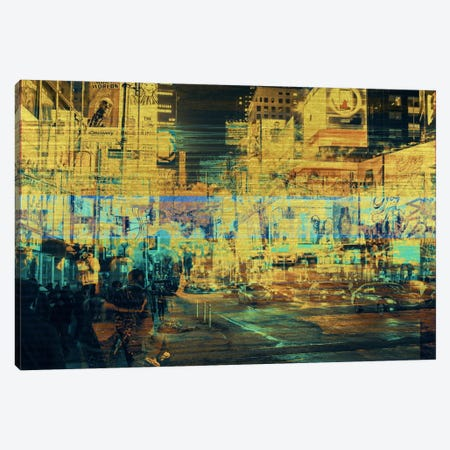 Times Squared Gold Edition Canvas Print #UAS13} by 5by5collective Canvas Wall Art