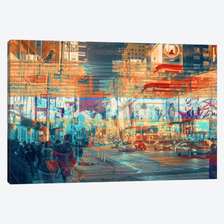 TimesSquared Canvas Print #UAS3} by 5by5collective Art Print