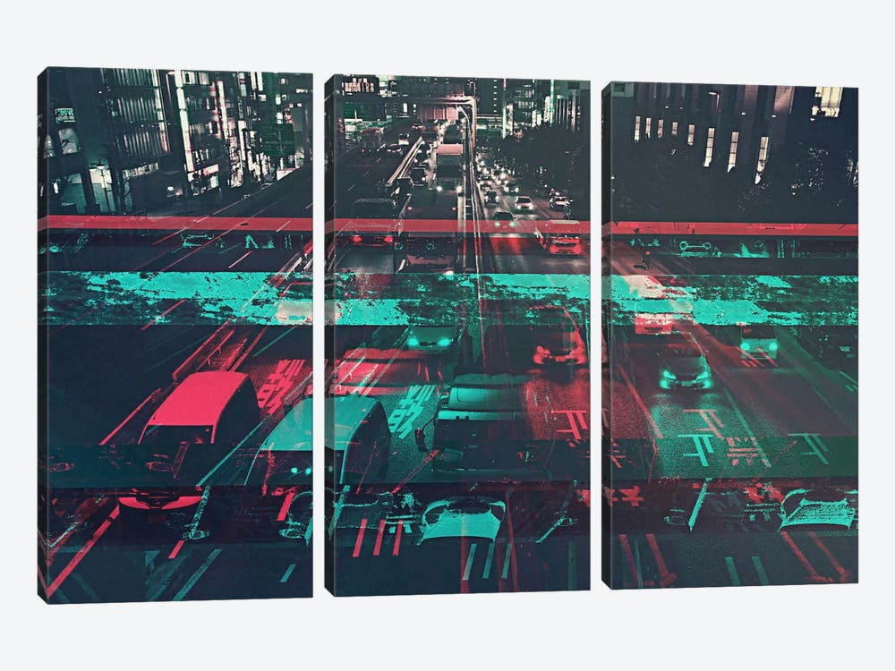 Traffic by 5by5collective 3-piece Canvas Art