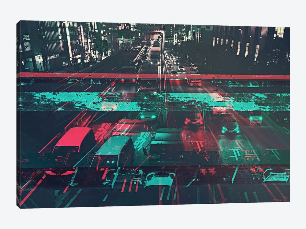 Traffic by 5by5collective 1-piece Canvas Artwork