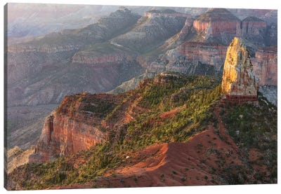 Mt. Hayden From Imperial Point On The North Rim In Grand Canyon National Park, Arizona, Usa Canvas Art Print
