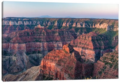 View From Imperial Point On The North Rim In Grand Canyon National Park, Arizona, Usa Canvas Art Print