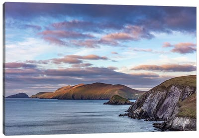 View Of The Blasket Islands From Dunmore Head The Westernmost Point Of Europe On The Dingle Peninsula, Ireland Canvas Art Print