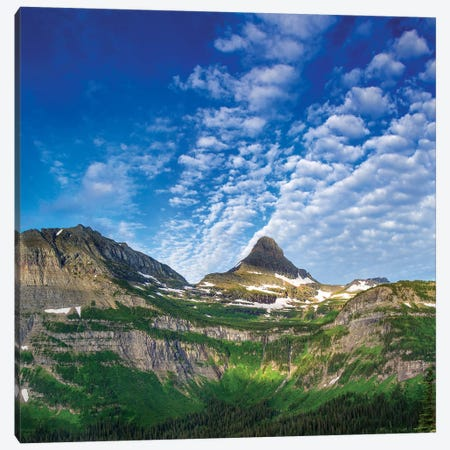 Heavy Runner And Reynolds Mountains, Glacier National Park, Montana, USA Canvas Print #UCK11} by Chuck Haney Canvas Art Print