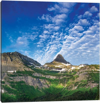 Heavy Runner And Reynolds Mountains, Glacier National Park, Montana, USA Canvas Art Print