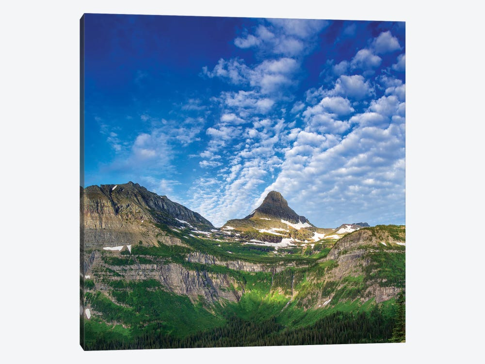 Heavy Runner And Reynolds Mountains, Glacier National Park, Montana, USA by Chuck Haney 1-piece Canvas Wall Art