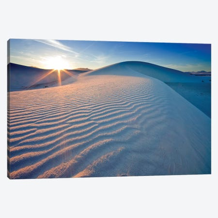 Rippled Dunes At Sunset, White Sands National Monument, Tularosa Basin, New Mexico, USA Canvas Print #UCK16} by Chuck Haney Canvas Art