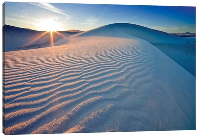 Rippled Dunes At Sunset, White Sands National Monument, Tularosa Basin, New Mexico, USA Canvas Art Print