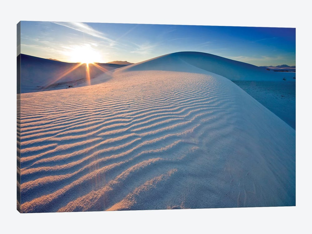Rippled Dunes At Sunset, White Sands National Monument, Tularosa Basin, New Mexico, USA by Chuck Haney 1-piece Art Print