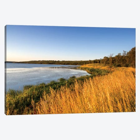 Wetland Landscape, Des Lacs National Wildlife Refuge, North Dakota, USA Canvas Print #UCK18} by Chuck Haney Canvas Print