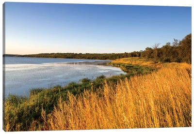 Wetland Landscape, Des Lacs National Wildlife Refuge, North Dakota, USA Canvas Art Print