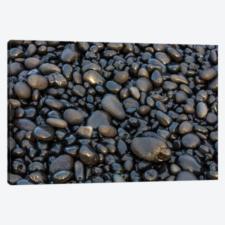 Black pebbles on the beach, Snaefellsnes Peninsula, Iceland Canvas Print #UCK26} by Chuck Haney Art Print