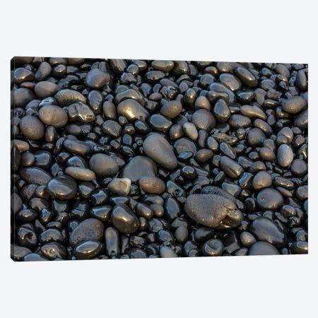 Black pebbles on the beach, Snaefellsnes Peninsula, Iceland Canvas Print #UCK26} by Chuck Haney Art Print
