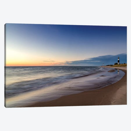 A Distant Big Sable Point Light, Ludington State Park, Mason County, Michigan, USA Canvas Print #UCK2} by Chuck Haney Canvas Artwork