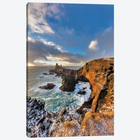 Dramatic cliffs at Londrangar sea stacks, Snaefellsnes Peninsula, Iceland II Canvas Print #UCK35} by Chuck Haney Canvas Wall Art