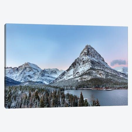 Grinnell Point and Mount Gould over Swift current Lake, Glacier National Park, Montana, USA Canvas Print #UCK38} by Chuck Haney Canvas Print