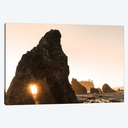 Sunset along sea stacks on Ruby Beach in Olympic National Park, Washington State, USA Canvas Print #UCK50} by Chuck Haney Canvas Print