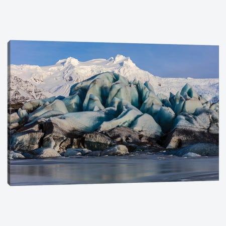 Svinafellsjokull glacier in south Iceland 3-Piece Canvas #UCK51} by Chuck Haney Art Print