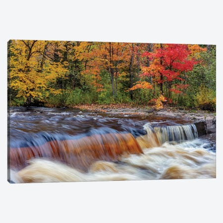 Sturgeon River in autumn near Alberta in the Upper Peninsula of Michigan, USA Canvas Print #UCK77} by Chuck Haney Canvas Wall Art
