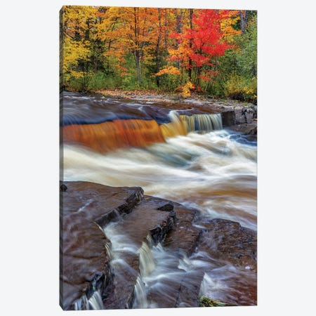 Sturgeon River in autumn near Alberta in the Upper Peninsula of Michigan, USA Canvas Print #UCK78} by Chuck Haney Canvas Print