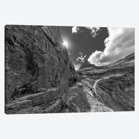 The Narrow section of the Highline Trail above Going to the Sun Road in Glacier NP, Montana Canvas Print #UCK88} by Chuck Haney Canvas Artwork