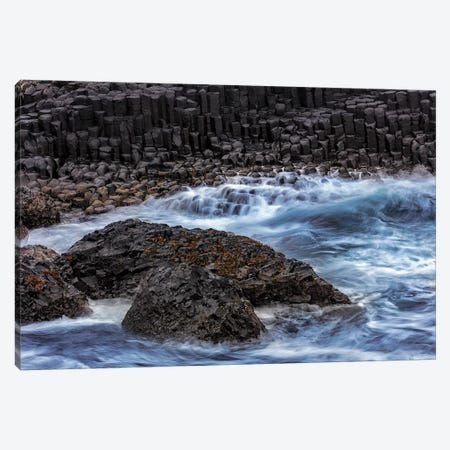 Waves crash into basalt at the Giant's Causeway in County Antrim, Northern Ireland Canvas Print #UCK96} by Chuck Haney Canvas Art