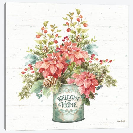 Our Christmas Story Bouquet on Birch Canvas Print #UDI105} by Lisa Audit Canvas Print