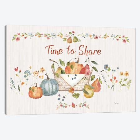 Time to Share I Canvas Print #UDI119} by Lisa Audit Canvas Print