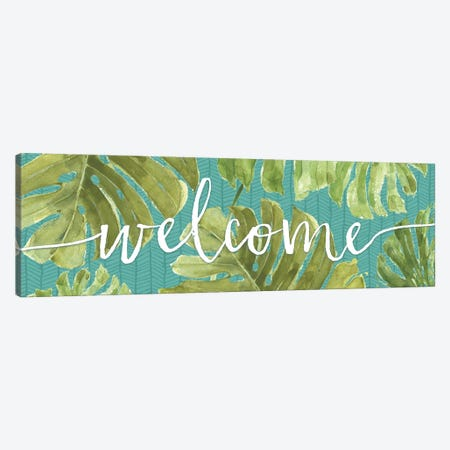 Mixed Greens Welcome Canvas Print #UDI123} by Lisa Audit Canvas Art