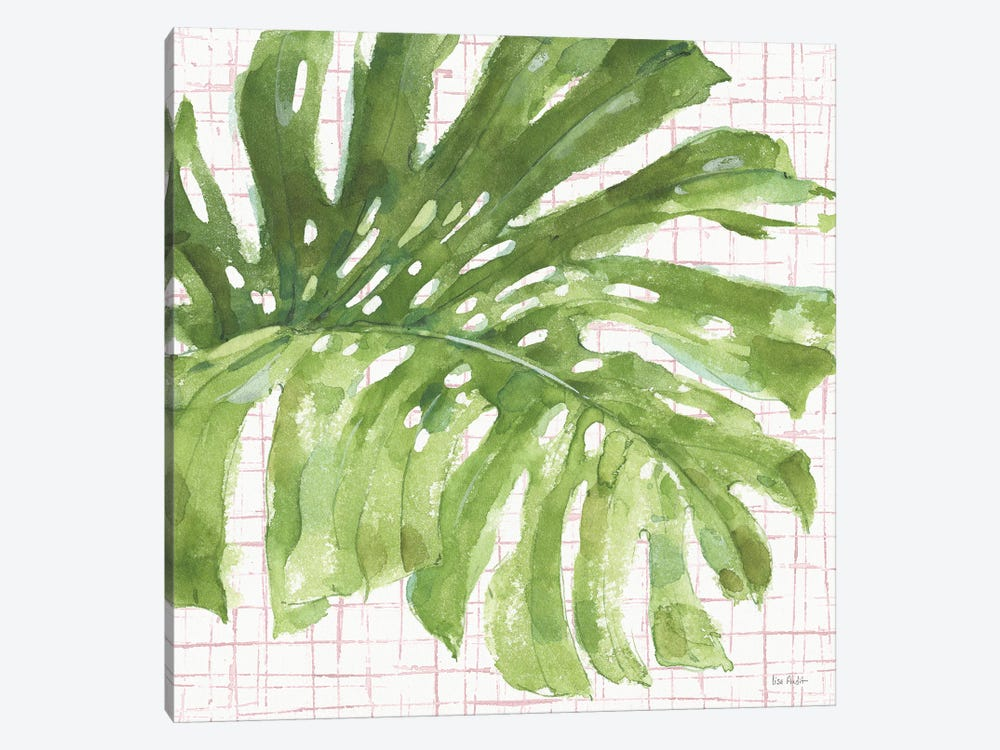 Mixed Greens LXXIV on Pink by Lisa Audit 1-piece Canvas Art