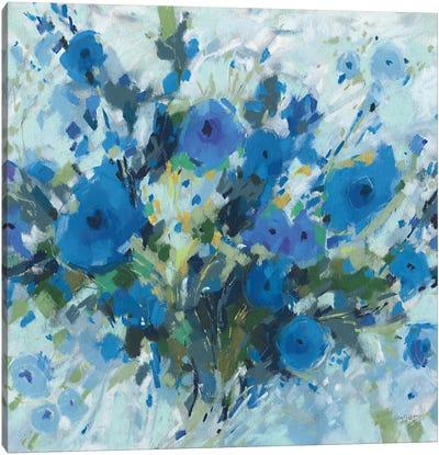 Blueming I Square Canvas Art Print