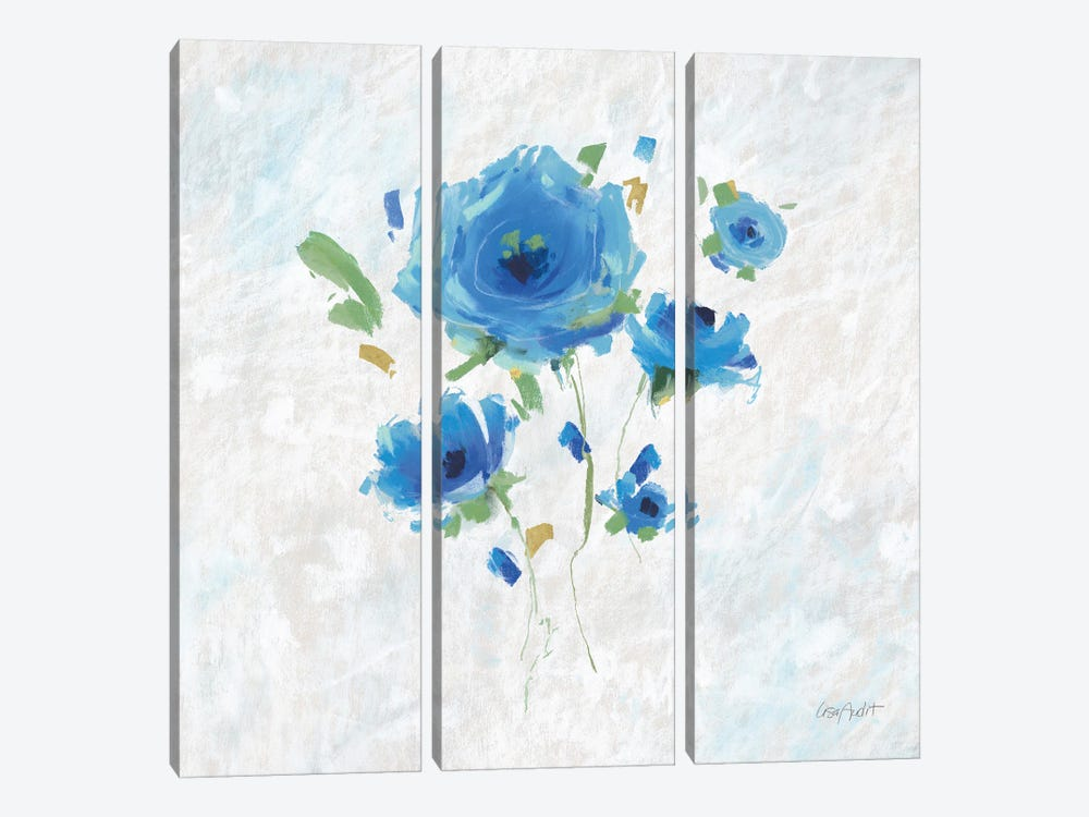 Blueming III by Lisa Audit 3-piece Canvas Print