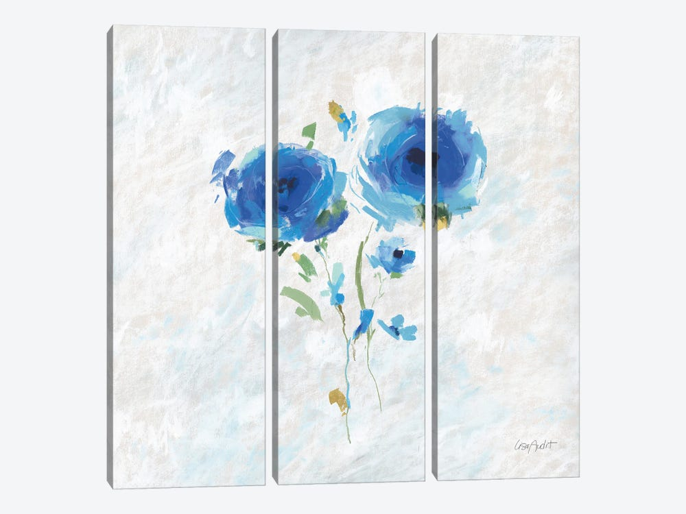Blueming IV by Lisa Audit 3-piece Canvas Wall Art