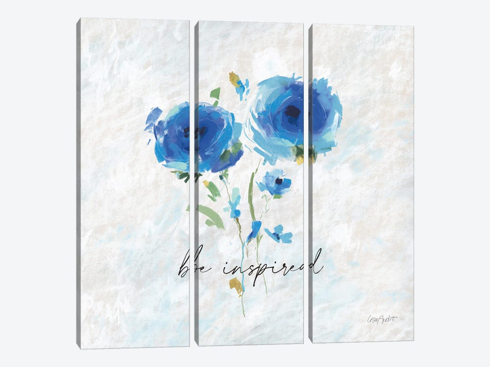 Blueming IX by Lisa Audit 3-piece Canvas Art