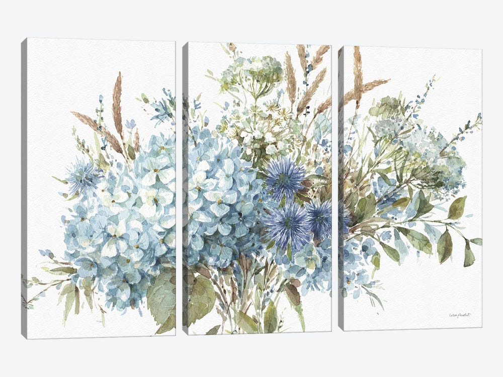 Bohemian Blue IA by Lisa Audit 3-piece Canvas Print