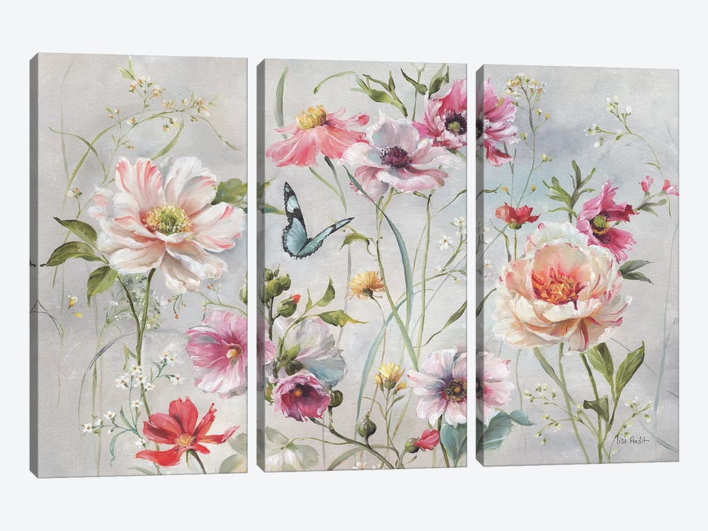 Antique Garden I by Lisa Audit 3-piece Canvas Artwork
