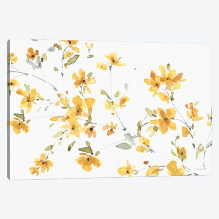 Happy Yellow IIIA Canvas Print #UDI204} by Lisa Audit Canvas Wall Art